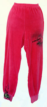 Fuschia Jog Pant- One of a kind by Vincent Gallo