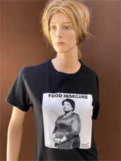 "20. ""FOOD INSECURE""  Vincent Gallo 2020 one-of-a-kind, hand made T-shirt"