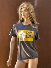 "29. ""FUCK BLACK LIVES MATTER""  Vincent Gallo 2020 one-of-a-kind, hand made T-shirt"