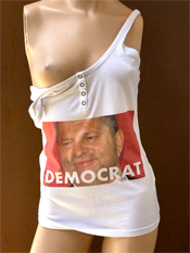 "36. ""DEMOCRAT""  Vincent Gallo 2020 one-of-a-kind, hand made T-shirt"