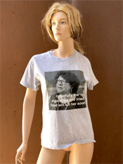 "38. ""HOPEFULLY""  Vincent Gallo 2020 one-of-a-kind, hand made T-shirt"