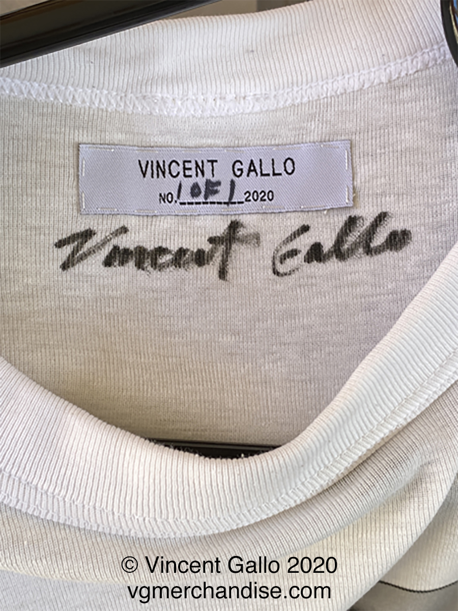 "1. ""FUCK FACE""  Vincent Gallo 2020 (neck label)"