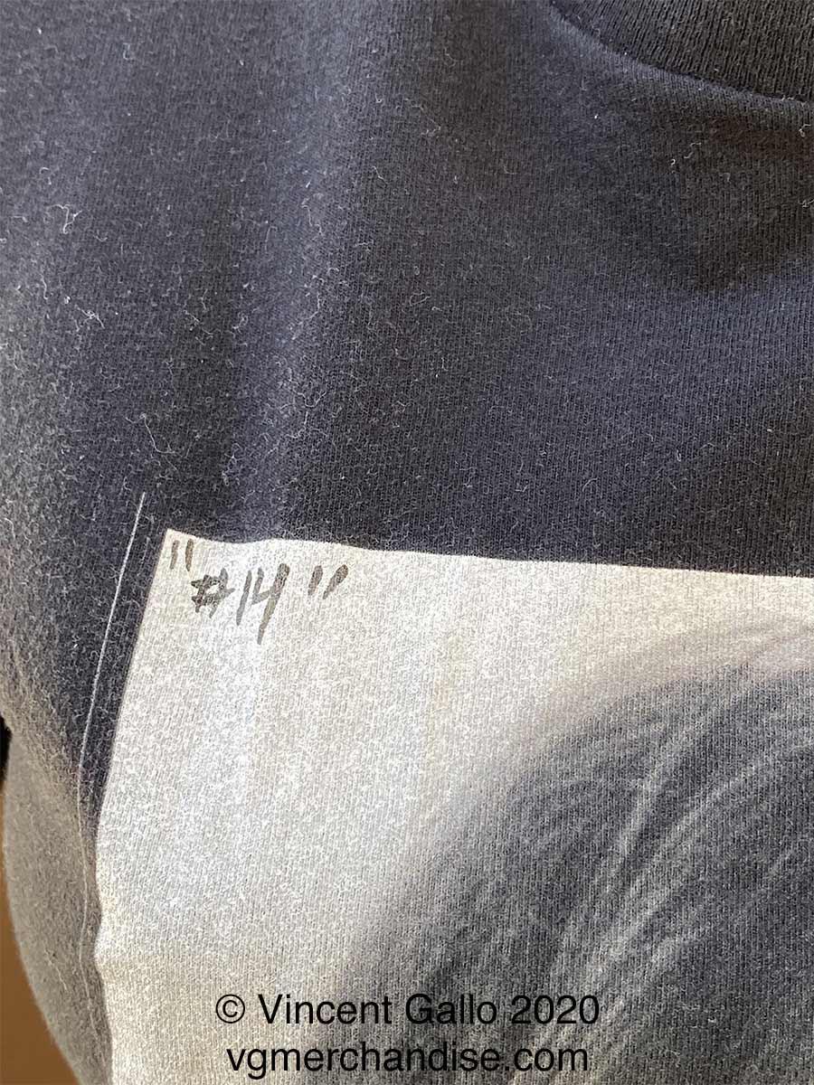 "14. ""Melania""  Vincent Gallo 2020 (print number detail)"