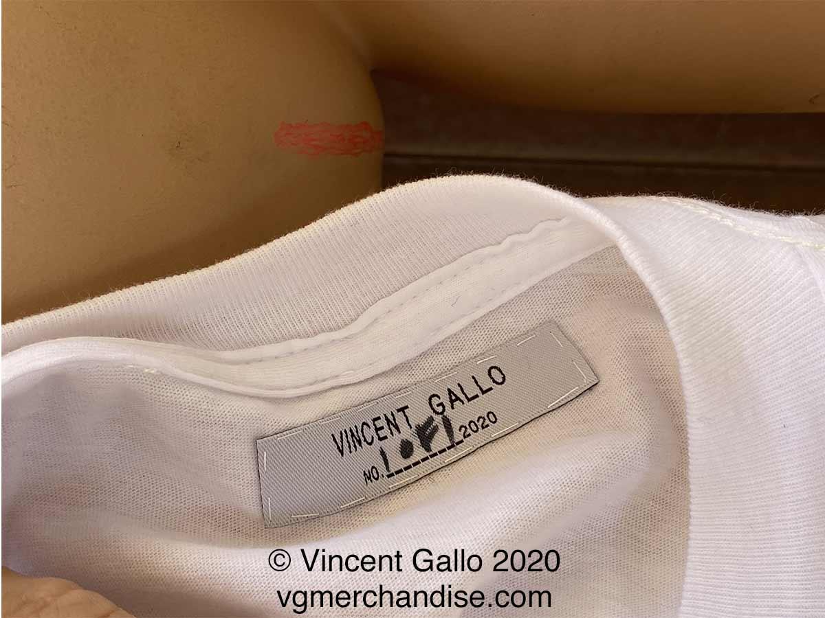 """15. """"HERO""""  Vincent Gallo 2020 (neck label)"""