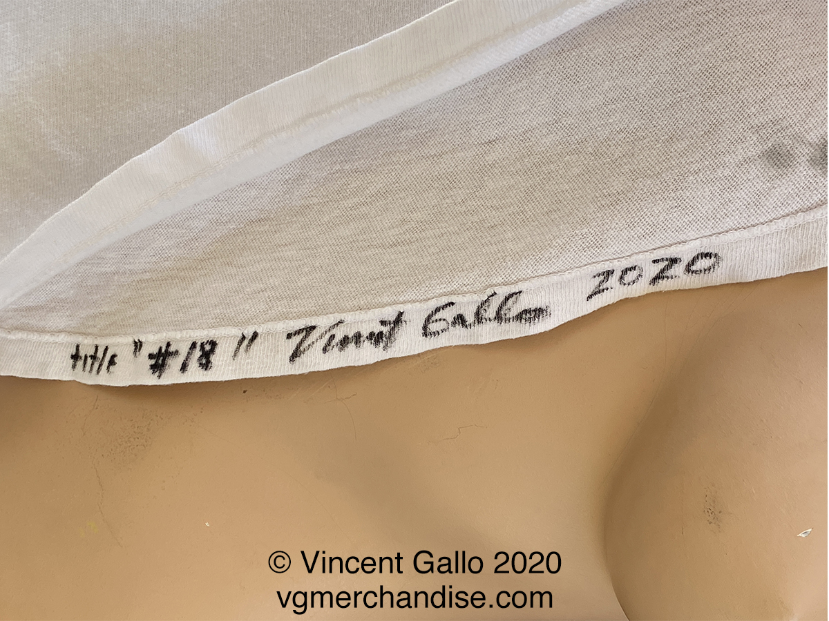 "18. ""THE FACE OF HATE""  Vincent Gallo 2020 (signed hem)"
