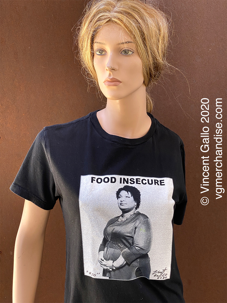 "20. ""FOOD INSECURE""  Vincent Gallo 2020 (modeled)"