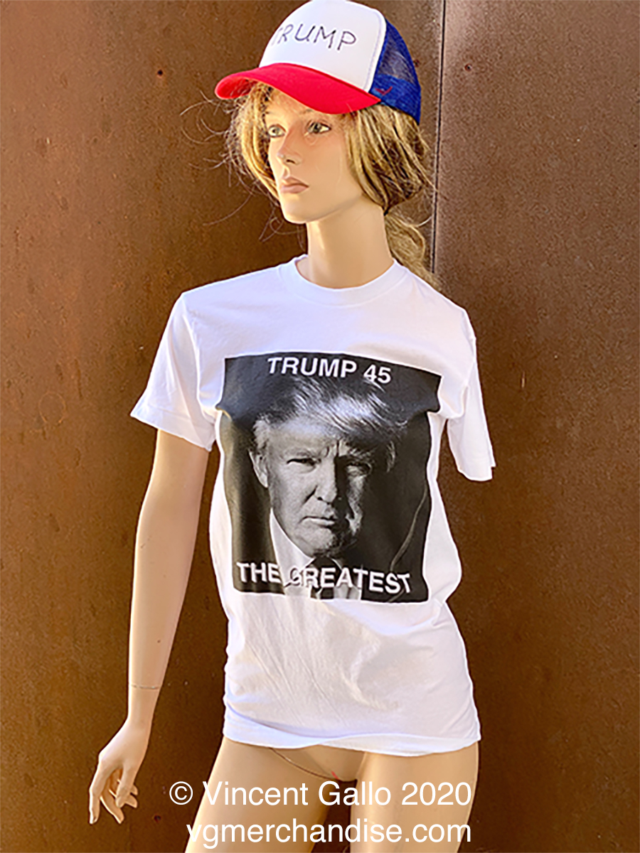 "22. ""TRUMP 45""  Vincent Gallo 2020 (modeled)"