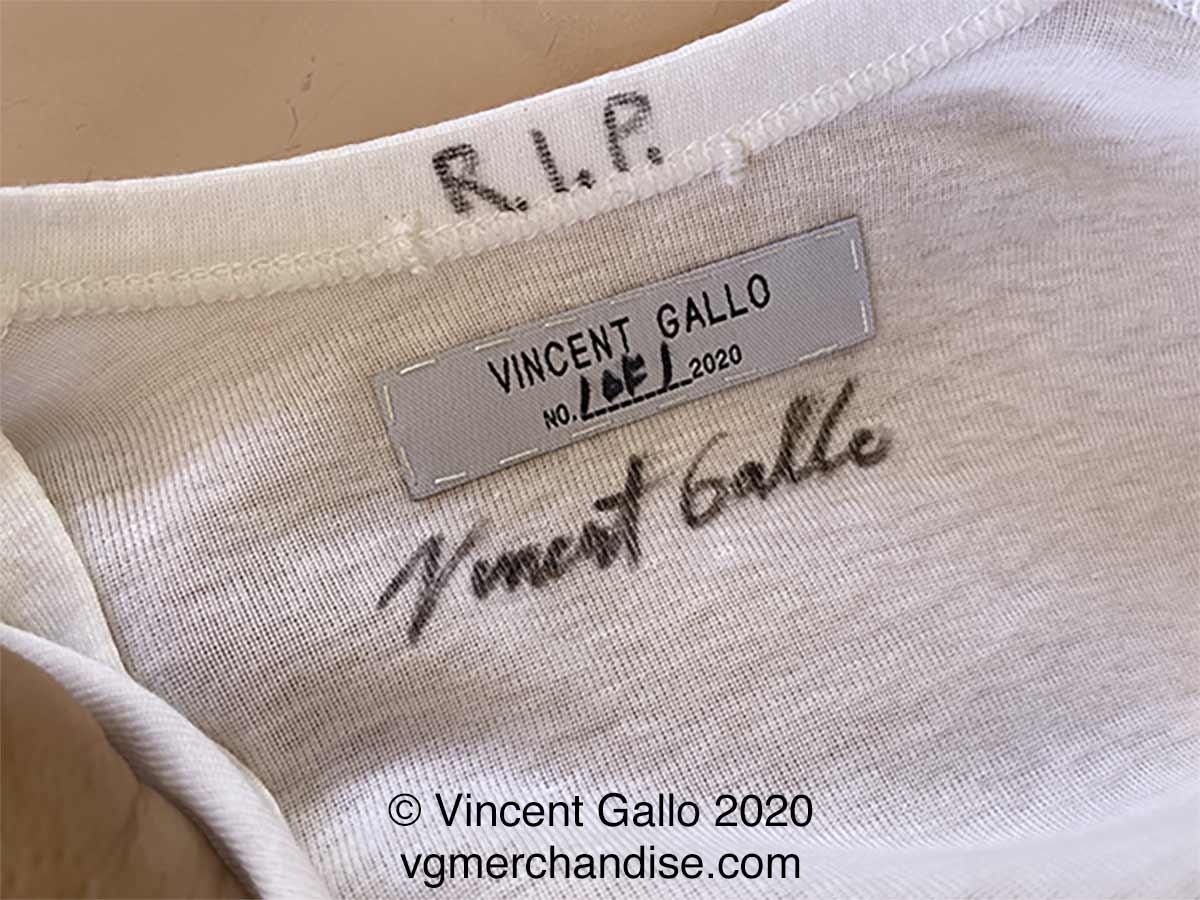 """23. """"COPS LIVES MATTER MORE""""  Vincent Gallo 2020 (neck label)"""
