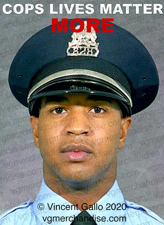 """23. """"COPS LIVES MATTER MORE""""  Vincent Gallo 2020 (print detail)"""
