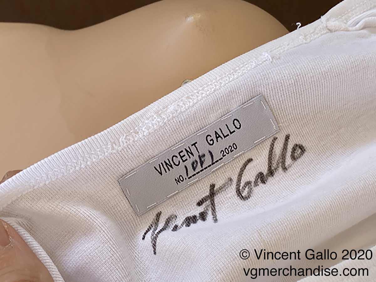 "24. ""I TAKE NO RESPONSIBILITY""  Vincent Gallo 2020 (neck label)"