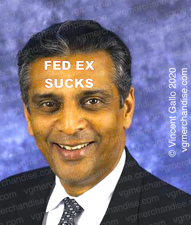 "25. ""FED EX SUCKS""  Vincent Gallo 2020 (print detail)"