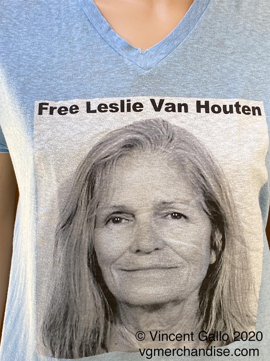 "26. ""FREE LESLIE VAN HOUTEN""  Vincent Gallo 2020 (modeled print detail)"