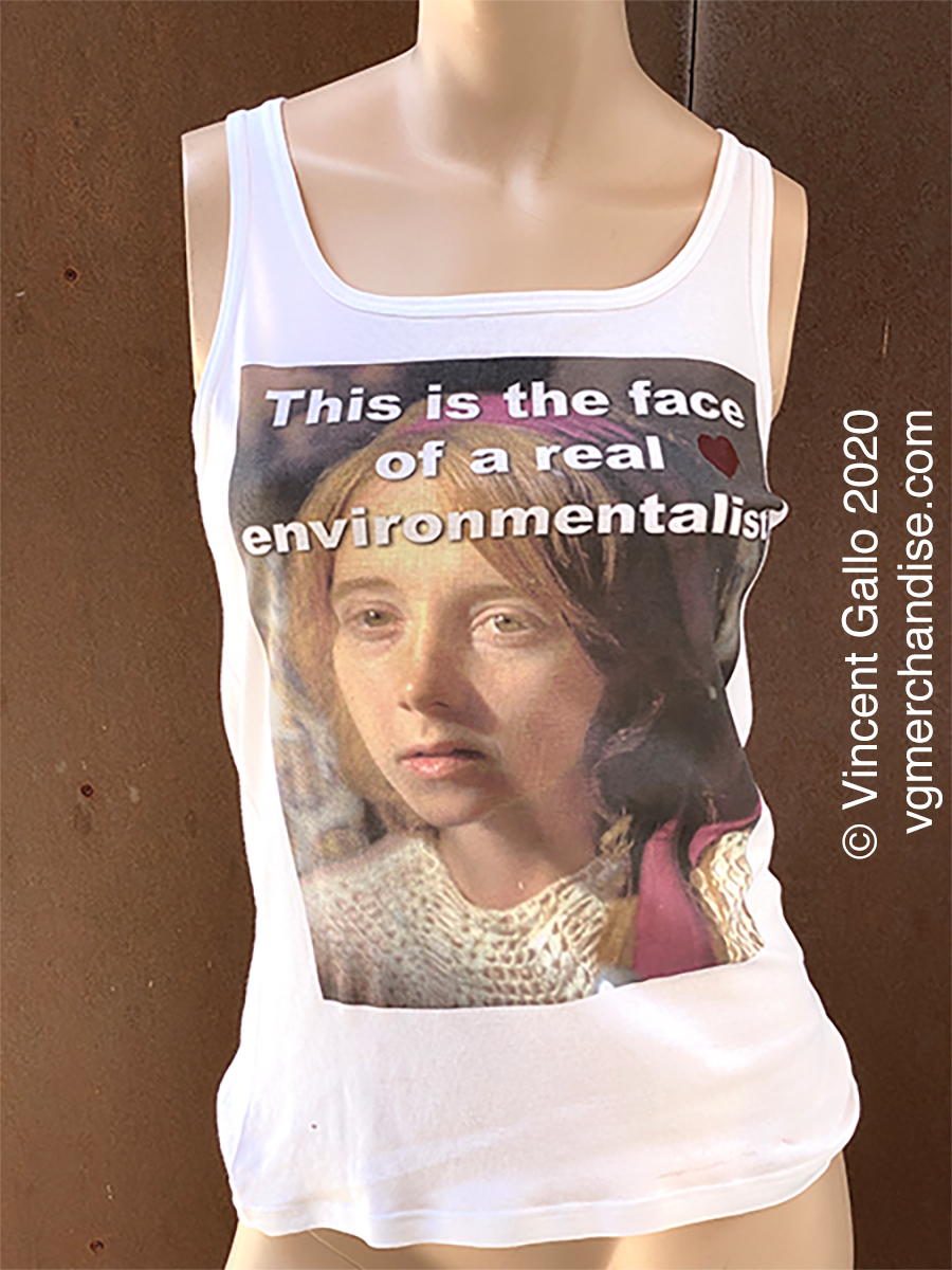 """27. """"A REAL ENVIRONMENTALIST""""  Vincent Gallo 2020 (modeled)"""