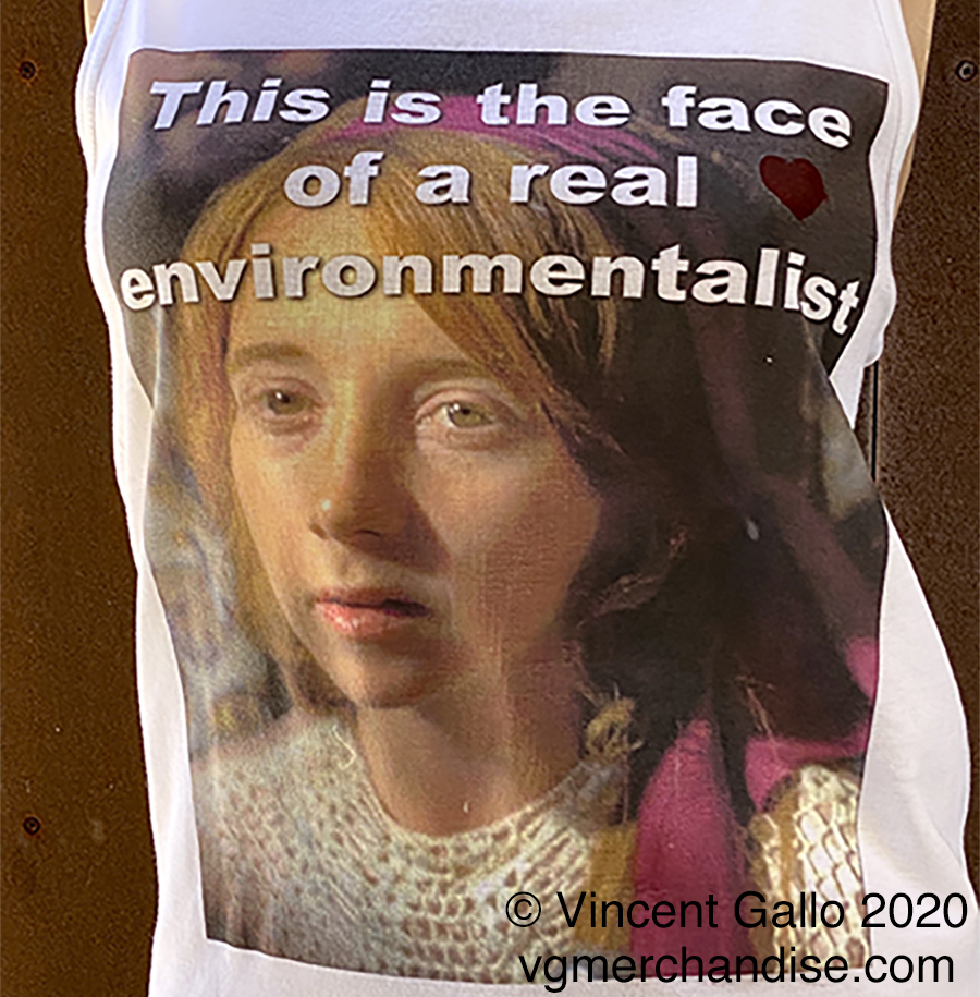 """27. """"A REAL ENVIRONMENTALIST""""  Vincent Gallo 2020 (modeled print detail)"""