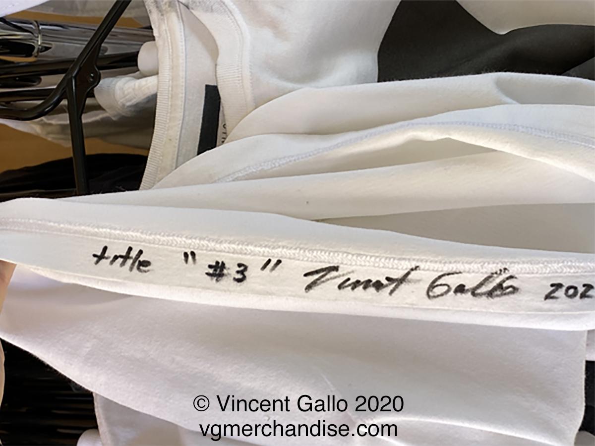 "3. ""SMART BLACK BEAUTIFUL""  Vincent Gallo 2020 (signed hem)"