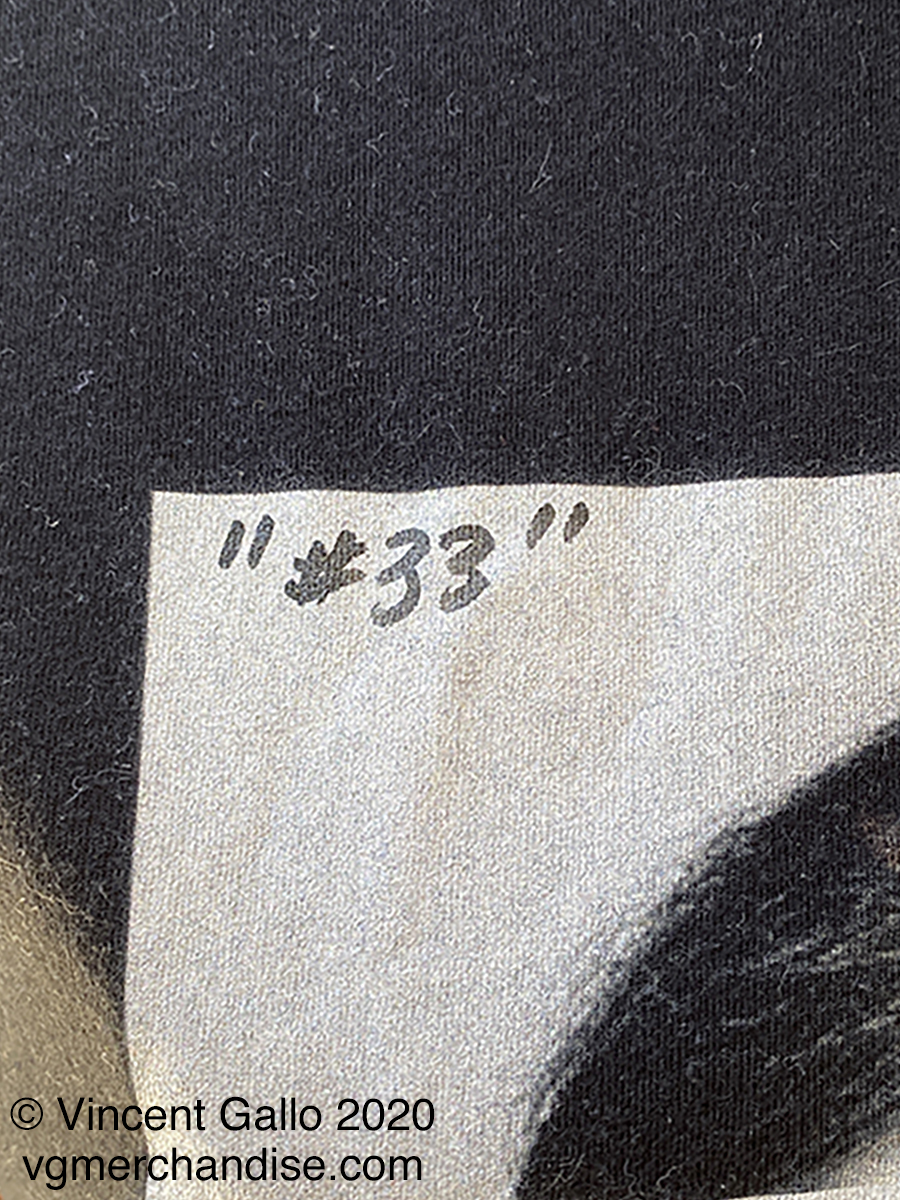 "33. ""ASSHOLE""  Vincent Gallo 2020 (numbered print detail)"