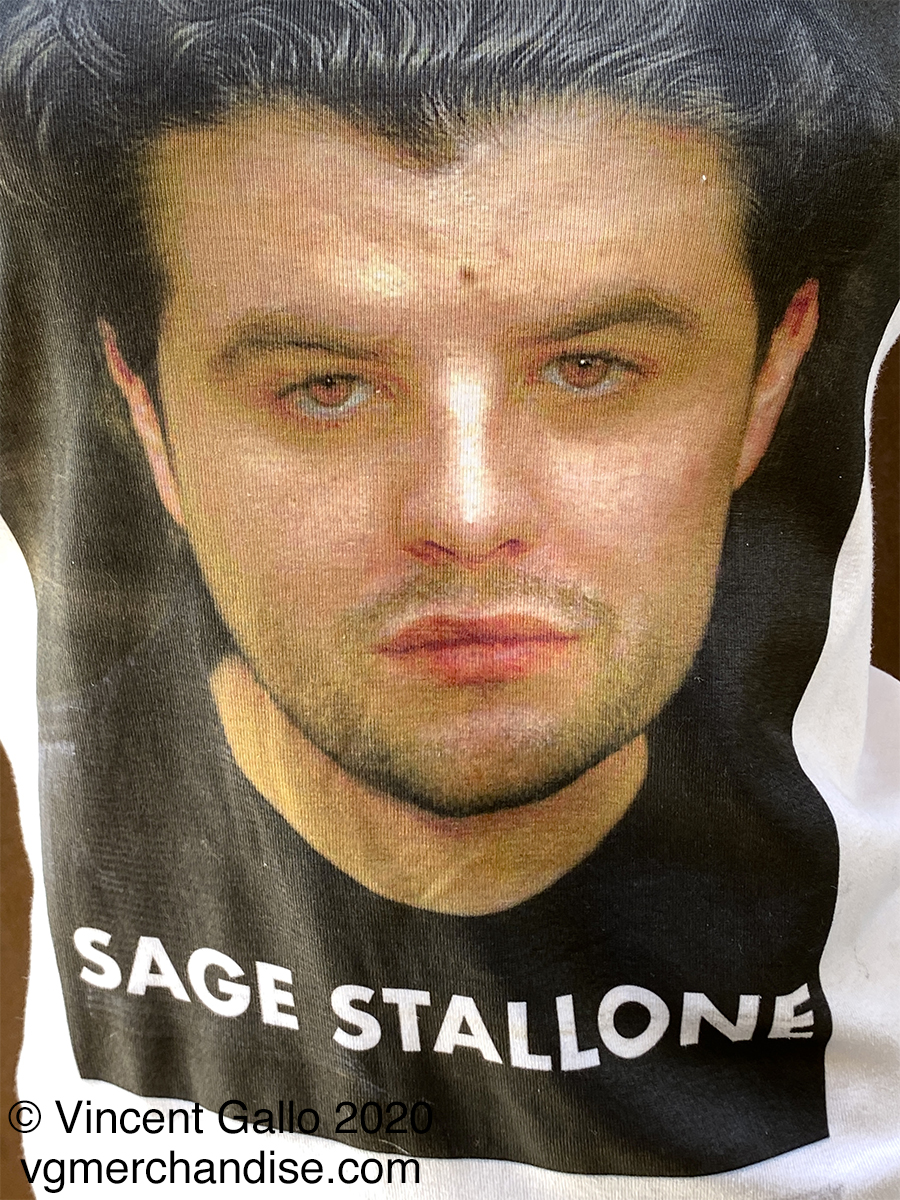 "34. ""SAGE STALLONE""  Vincent Gallo 2020 (modeled print detail)"