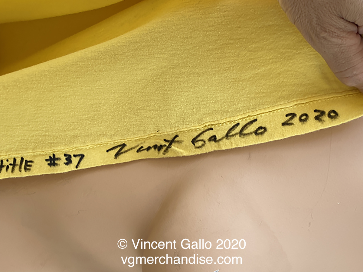 "37. """"A PIECE OF SHIT""  Vincent Gallo 2020 (signed hem)"