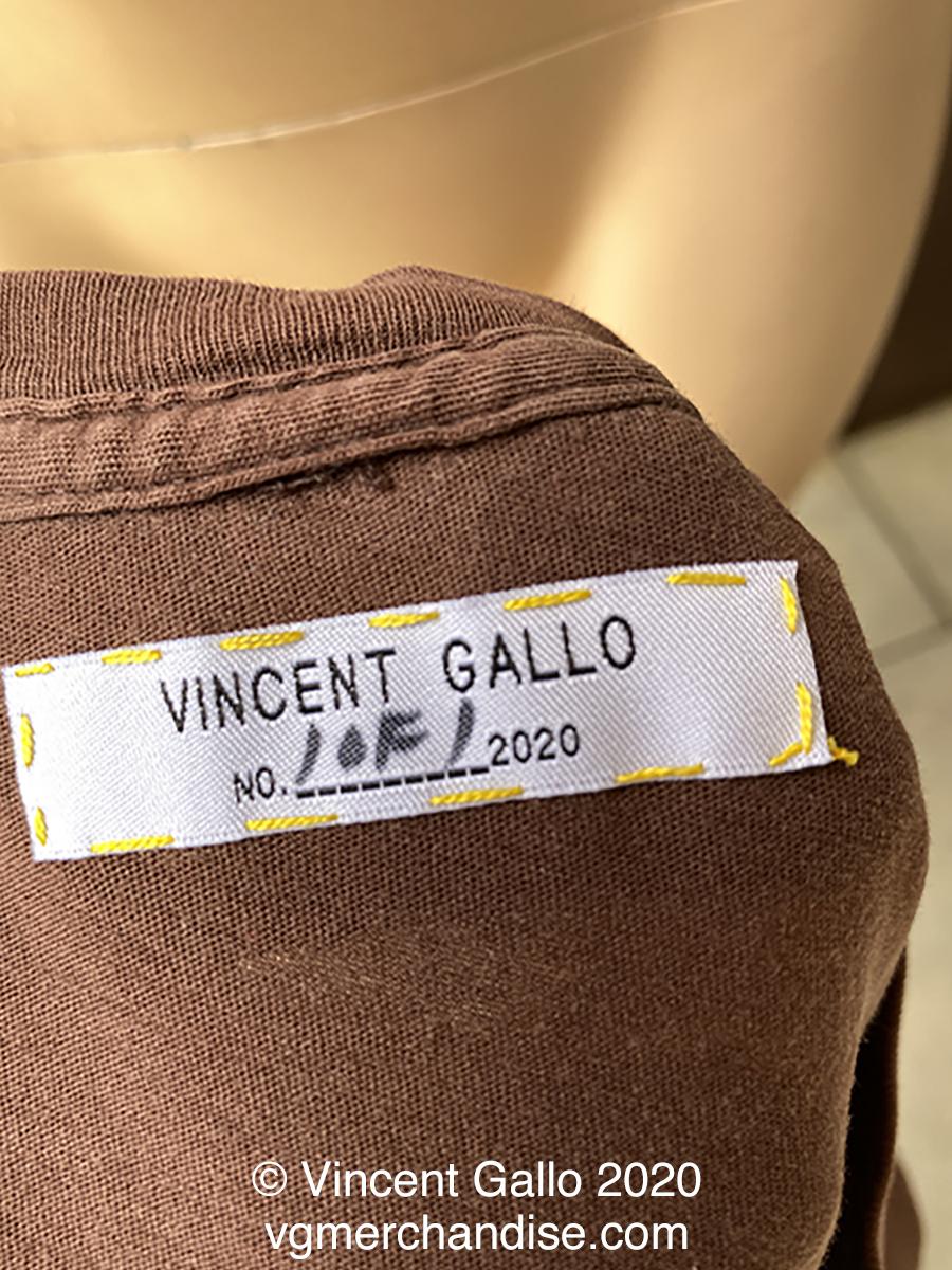"""46. """"SCUMBAG""""  Vincent Gallo 2020  (neck label)"""