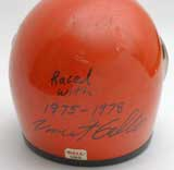 Vincent Gallo's First Motorcycle Racing Helmet. Autographed by Vincent Gallo