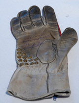 Vincent Gallo's Only Racing Glove From His Last Motorcycle Race and Wreck (circa 1989). Autographed by Vincent Gallo
