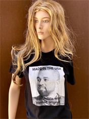 "10. ""MADE IN THE USA""  Vincent Gallo 2020 one-of-a-kind, hand made T-shirt"