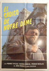 El Sadico De Notre Dame Vintage Film Poster