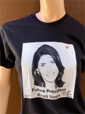 "12. ""FUTURE PRESIDENT""  Vincent Gallo 2020 one-of-a-kind, hand made T-shirt"