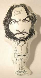 Inflatable Charles Manson, Signed by Vincent Gallo.