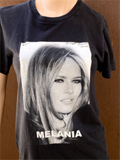 "14. ""Melania""  Vincent Gallo 2020 one-of-a-kind, hand made T-shirt"