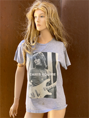 "28. ""CHRIS SQUIRE""  Vincent Gallo 2020 one-of-a-kind, hand made T-shirt"