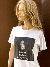 "03. ""SMART BLACK BEAUTIFUL""  Vincent Gallo 2020 one-of-a-kind, hand made T-shirt"