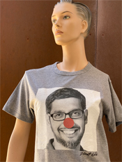 "30. ""CLOWN""  Vincent Gallo 2020 one-of-a-kind, hand made T-shirt"