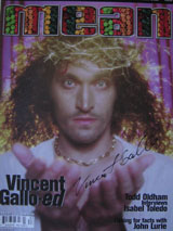 Mean Magazine (USA, Vol. 1, Fall/Winter 1998, Number Two, signed by Vincent Gallo)