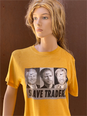 "31. ""SLAVE TRADERS""  Vincent Gallo 2020 one-of-a-kind, hand made T-shirt"