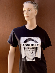"33. ""ASSHOLE""  Vincent Gallo 2020 one-of-a-kind, hand made T-shirt"