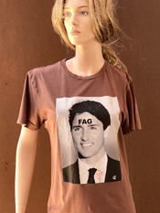 "39. ""FAG""  Vincent Gallo 2020 one-of-a-kind, hand made T-shirt"