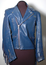 Vincent Gallo's Lewis Leather Blue Fringe Punk Rock Jacket Bought At Age 16