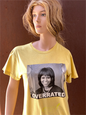 "42. ""OVERRATED""  Vincent Gallo 2020 one-of-a-kind, hand made T-shirt"