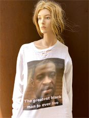"44. ""THE GREATEST BLACK MAN""  Vincent Gallo 2020 one-of-a-kind, hand made T-shirt"