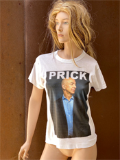"47. ""PRICK""  Vincent Gallo 2020 one-of-a-kind, hand made T-shirt richest man centi-billionaire"