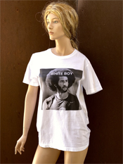 "05. ""WHITE BOY""  Vincent Gallo 2020 one-of-a-kind, hand made T-shirt"