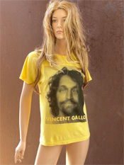 "50. ""VINCENT GALLO""  Vincent Gallo 2020 one-of-a-kind, hand made T-shirt"