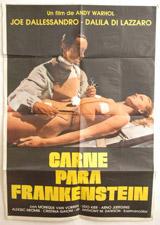 Carne Para Frankenstein (Flesh for Frankenstein) Vintage Warhol Film Poster