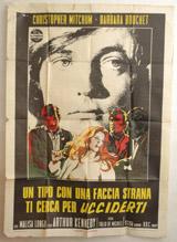 Un Tipo Con Una Faccia Strana Ti Cerca Per Ucciderti (Ricco) Vintage Film Poster