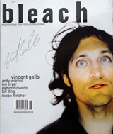 Bleach Magazine (USA, June 1998, signed by Vincent Gallo)