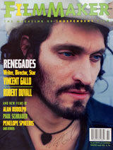 Filmmaker Magazine (vol. 6, No. 2, Winter 1998, signed by Vincent Gallo)