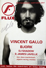 FLUX Magazine (UK, No. 9, OCT/NOV 1998, signed by Vincent Gallo)