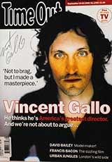 Time Out Magazine (UK, September 1998, signed by Vincent Gallo)