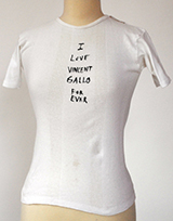 Vincent Gallo T-Shirt: Forever (handmade and signed by Vincent Gallo)